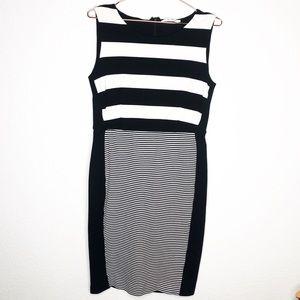 MaxMara Striped Jersey Sleeveless Sheath Dress
